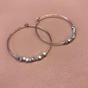 Dainty Rose Gold Hoop Earrings